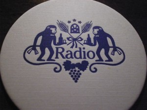 Radio Bar coaster