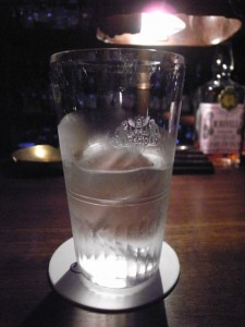 Radio Bar water glass